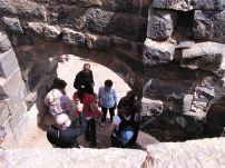 Us touring church ruins