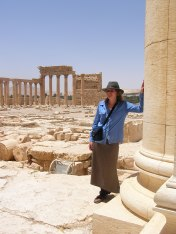 Palmyra -- me in temple facing out