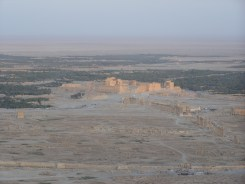 Ruins at Palmyra from the fortress