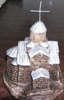 Little plaster church