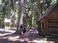 Replica of St Seraphim's cabin