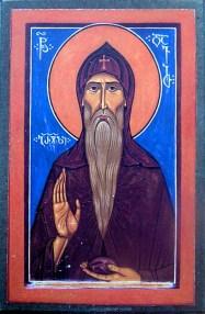 Icon print of St Davit Gareji