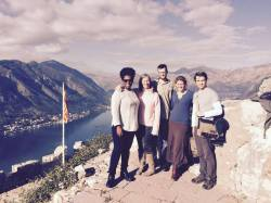 Traveling buddies at the top of the Kotor fortress