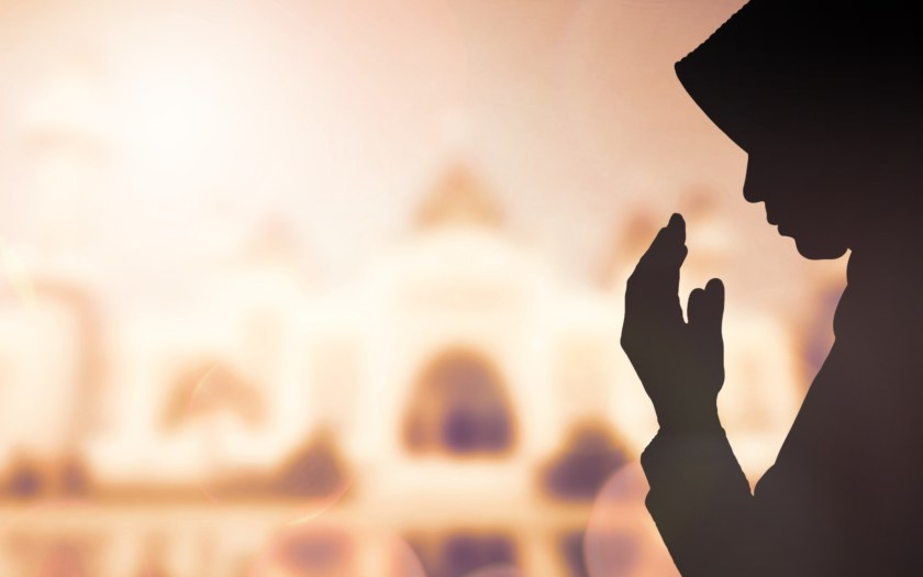 Muslim Woman pray and Beautiful background. from google
