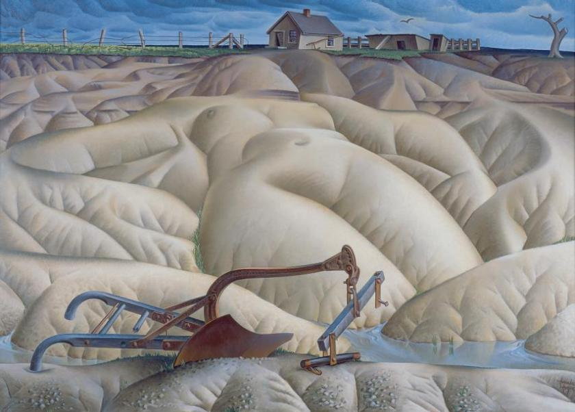 """Erosion No. 2 – Mother Earth Laid Bare"" (1936) by Alexander Hogue"