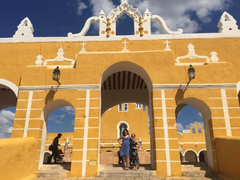 In front of the convent in Izamal, Mexico