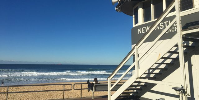 the newcastle beach