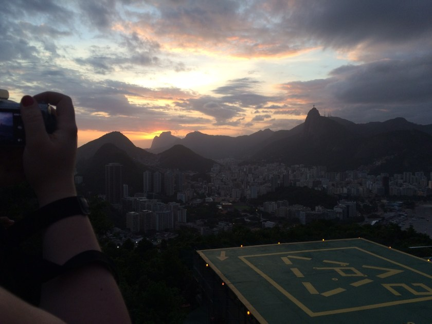 sunset from sugarloaf in rio