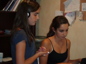 voice and piano students learn songwriting