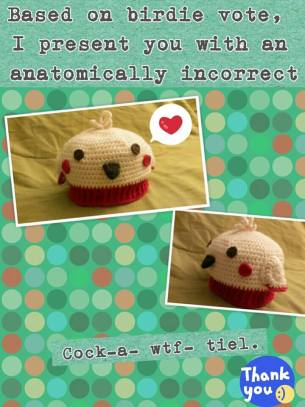 Cockatiel Hat for a cool little girl