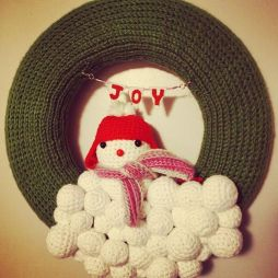 My own version of Derpy Snowman Wreath with extra sets of clothes: based off of Repeat Crafter Me's Snow Wreath