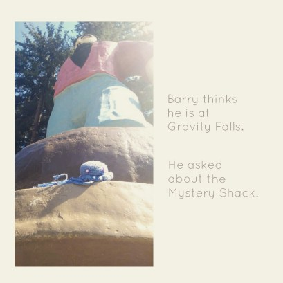 Barry thought he's in Gravity Falls....