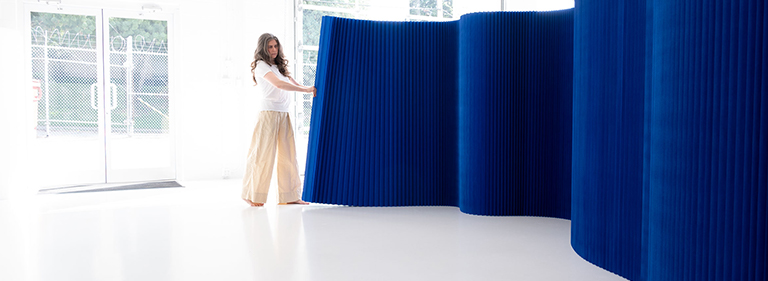 paper softwall folding partition