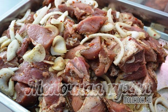 Berkat Marinade ini, daging akan memperoleh aroma mint yang halus dan rasa pedas yang menyenangkan.