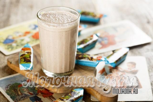 Cocktail de leite como se preparar na URSS