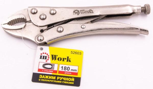 Зажим ручной с полукруглыми губками 180 мм с зубьями USP ...