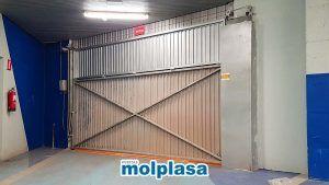 puerta de garaje metalica abatible
