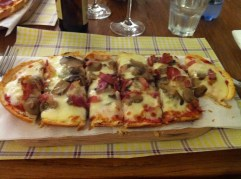 First taste of pizza, this one was made with bread