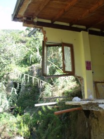 A house ruined by mudslides - near Vernazza