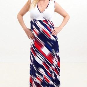 White-striped Maxi Dress