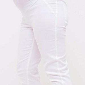 White Maternity Capri Pants
