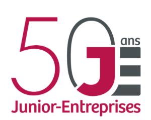 logo pour les 50 ans des Junior-Entreprises