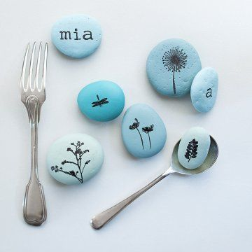 {Dossier DIY} 15 idées à faire avec des galets! - 15 DIY for kids with painted rocks - Moma le blog