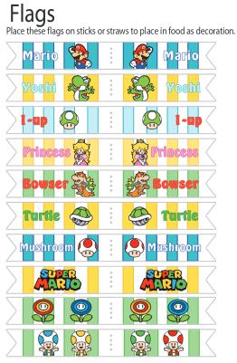 {Anniversaire} Fête de Mario et Printable!