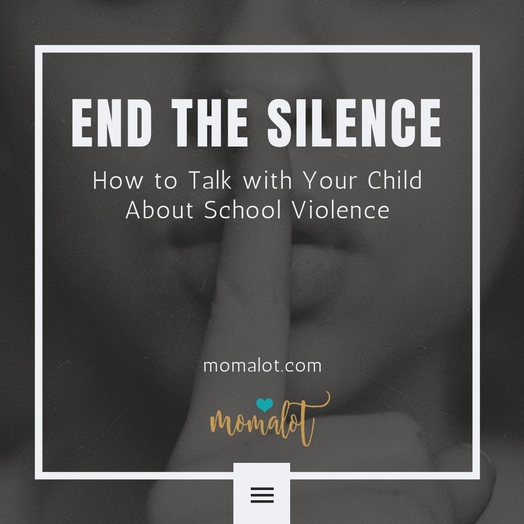End the Silence - how talk with your child about school violence - Instagram-min