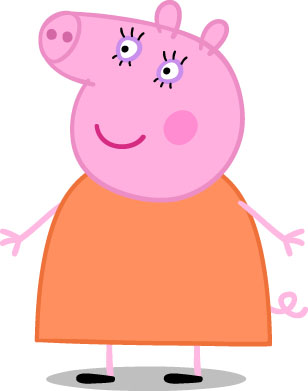 Image result for peppa pig mom