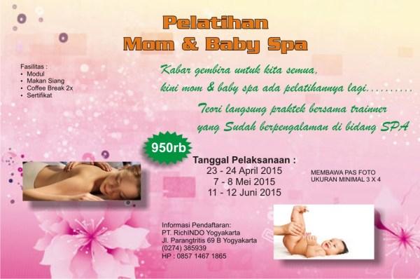 pelatihan mom and baby spa April Mei Juni 2015