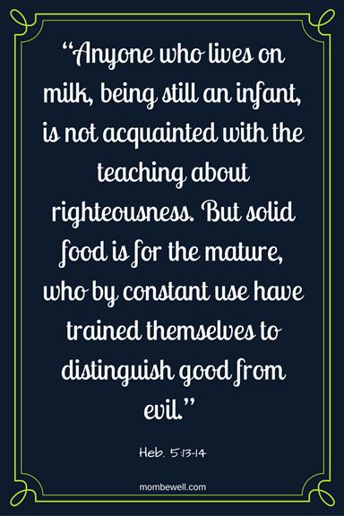 Heb. 5:13-14