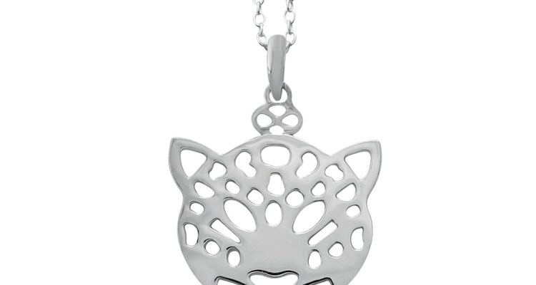 CHUI LEOPARD SILVER PLATED NECKLACE