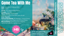 COME TEA WITH ME – MOMBASA EDITION