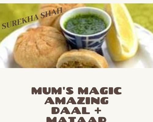 Yummiest, appetizing mix daal (lentil) + mataar (peas)