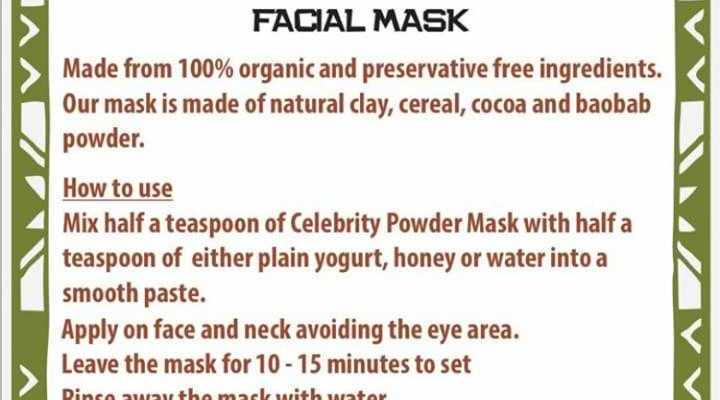 Organic facial products