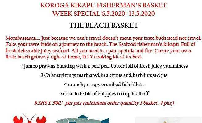 Seafood kikapu mother's day offer