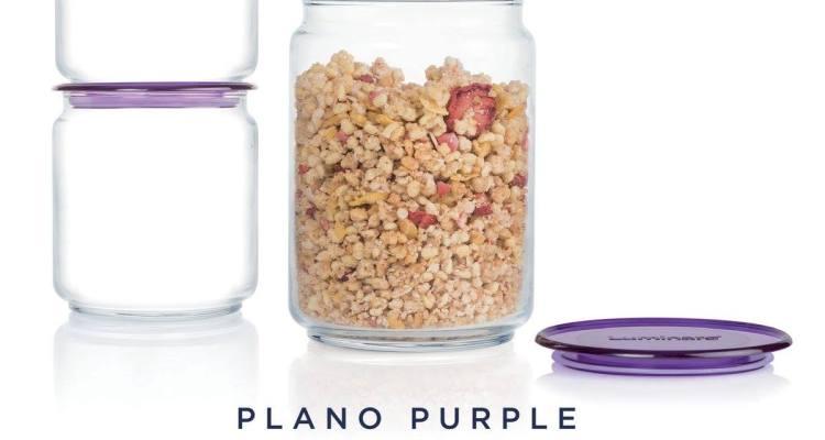 Luminarc Glass jars – Plano Purple – 3pcs Set