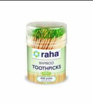 Raha Bamboo Minted Toothpicks – Pack of 400