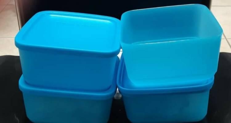 Tupperware Cubix Square Set (650 ml x 4)