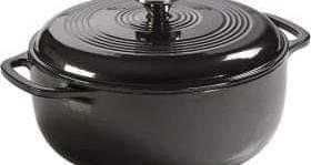 Lodge Enameled Dutch Oven, 5.6 Liter