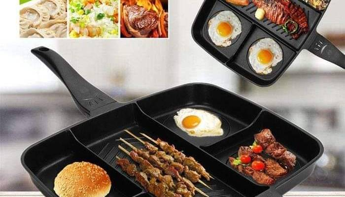 5 in 1 non – stick grill pan