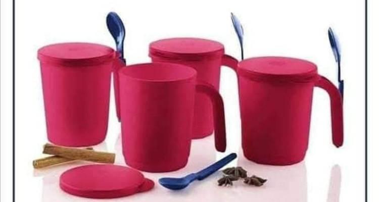 Tupperware Illumina Mugs with Seals