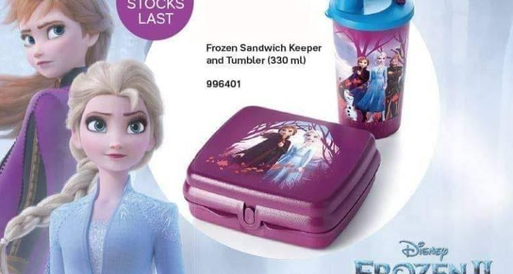 Tupperware Disney Frozen Sandwich Keeper and Tumbler (330ml)