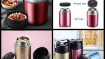 Stainless Steel Vacuum Thermos Food Flask