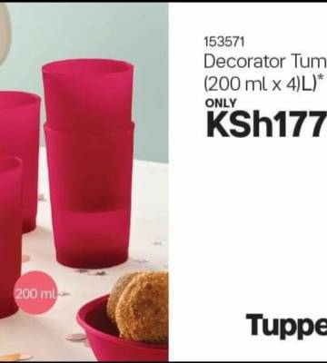Tupperware Decorator Tumblers (200ml X 4).