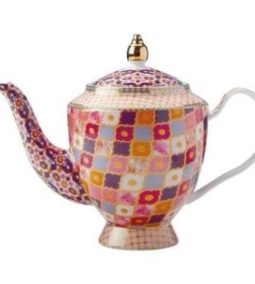 Maxwell & Williams Teas & C's Kasbah Loose Leaf Teapot with Infuser in Gift Box, Porcelain, Rose, 5 Cup (1 litre)