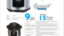 Smart Electric Pressure Cooker, 6L, Stainless Steel & Black