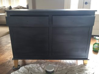 How to Paint an old TV Credenza