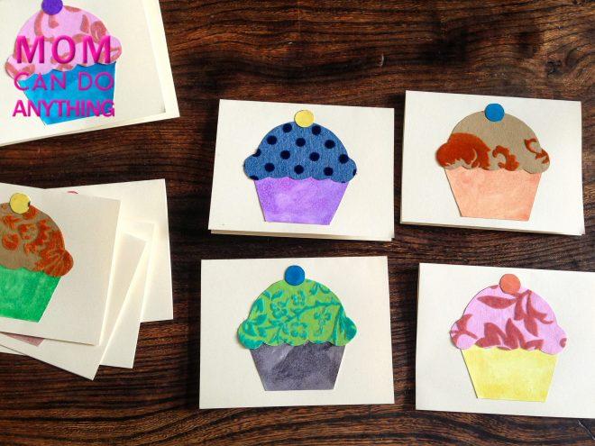 Handmade cards cupcake pattern-3